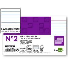 OfiElche-CLASIFICADORES-FICHAS CARTULINA Nº 2 RAYADAS 75X125MM