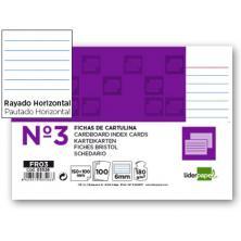 OfiElche-CLASIFICADORES-FICHAS CARTULINA Nº 3 RAYADAS 100X150MM