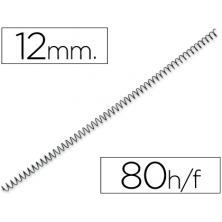 OfiElche-PLASTIFICACION Y ENCUADERNACION-ESPIRAL METALICO NEGRO P-56 12MM. (4:1)