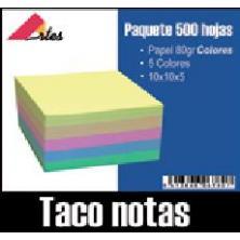 OfiElche-NOTAS ADHESIVAS-TACO NOTAS 500 HOJAS SIN ENCOLAR 100X100 COL.SURT.
