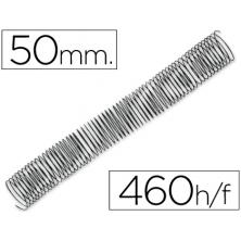 OfiElche-PLASTIFICACION Y ENCUADERNACION-ESPIRAL METALICO NEGRO P-56 50MM. (4:1)