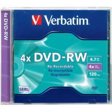OfiElche-SOPORTES MAGNETICOS Y MEMORIAS-DVD-RW REGRABABLE VERBATIM 4,7GB