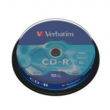 OfiElche-SOPORTES MAGNETICOS Y MEMORIAS-TARRINA 10 CD''S -R VERBATIM 700MB