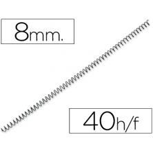 OfiElche-PLASTIFICACION Y ENCUADERNACION-ESPIRAL METALICO NEGRO P-56 8MM. (4:1)