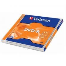 OfiElche-SOPORTES MAGNETICOS Y MEMORIAS-DVD-R VERBATIM 4,7GB 16X 120 MINUTOS
