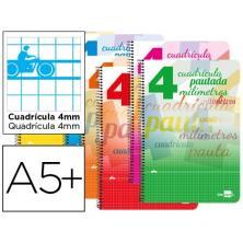 OfiElche-BLOCS Y CUADERNOS-CUADERNO A5 40H. CUADROVIA 4mm 80GR. T.BLANDA