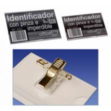 OfiElche-IDENTIFICADORES-IDENTIFICADOR CON PINZA E IMPERDIBLE 90x58MM OFFICE BOX