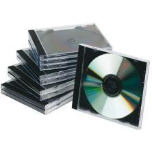 OfiElche-SOPORTES MAGNETICOS Y MEMORIAS-PACK 10 CAJAS DE CD CON INTERIOR NEGRO Q-CONNECT