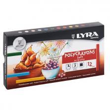 OfiElche-TIZAS Y PINTURAS PASTEL-PINTURAS PASTEL 12 COLORES POYCRAYONS SOFT LYRA