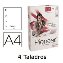 OfiElche-PAPEL FOTOCOPIADORA-PAPEL A4 PIONEER 4 TALADROS 80GR. PAQ. 500 HOJAS