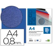 OfiElche-PLASTIFICACION Y ENCUADERNACION-TAPA DE PLASTICO OPACO 0,8 AZUL