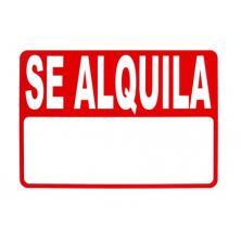 """OfiElche-CARTELES-CARTEL """"SE ALQUILA"""" 35X50 ADHESIVO"""