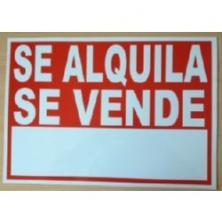 """OfiElche-CARTELES-CARTEL """"SE VENDE O SE ALQUILA"""" 35X50 ADHESIVO"""