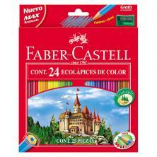 OfiElche-LAPICES DE COLORES-LAPICES FABER CASTELL CASTILLO 24 COLORES + SAC.