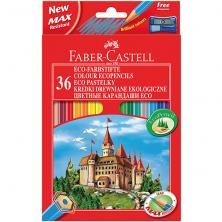 OfiElche-LAPICES DE COLORES-LAPICES FABER CASTELL CASTILLO 36 COLORES + SAC.