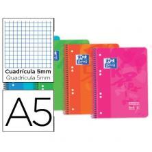 OfiElche-BLOCS Y CUADERNOS-CUADERNO OXFORD A5 120H CUAD.5X5 90GR. TP.PLASTICO