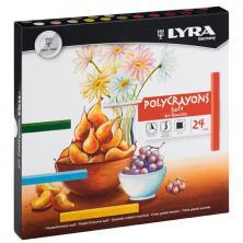 OfiElche-TIZAS Y PINTURAS PASTEL-PINTURAS PASTEL 24 COLORES POYCRAYONS SOFT LYRA