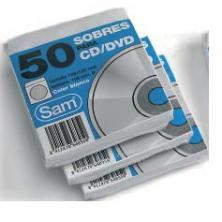 OfiElche-SOPORTES MAGNETICOS Y MEMORIAS-PAQUETE 50 SOBRES CD''S BLANCOS SAM