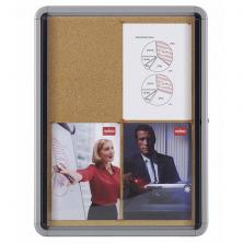 OfiElche-VITRINAS DE ANUNCIOS-VITRINA DE INTERIOR FONDO CORCHO 4 x A4 HOJAS NOBO