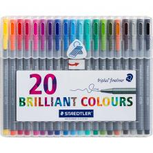 OfiElche-ROTULADORES-ROTULADORES STAEDTLER TRIPLUS FINELINER 20 COLORES