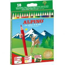 OfiElche-LAPICES DE COLORES-LAPICES DE COLORES ALPINO 18 COLORES