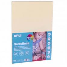OfiElche-CARTULINA A4-CARTULINA A4 170 GRS. 50H. COLORES PASTEL SURTIDOS APLI