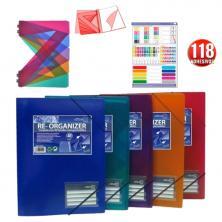 OfiElche-CARPETAS DE FUNDAS Y TARJETEROS-CARPETA OFFICE BOX RE-ORGANIZER 50 FUNDAS SUPRA (1