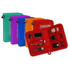OfiElche-SOPORTES MAGNETICOS Y MEMORIAS-CARTERA OFFICE BOX PORTA USB COLORES SURTIDOS (660